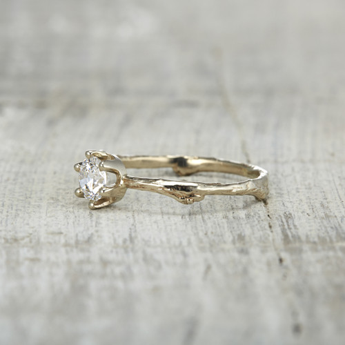 white sapphire engagement ring - White Sapphire Wedding Rings