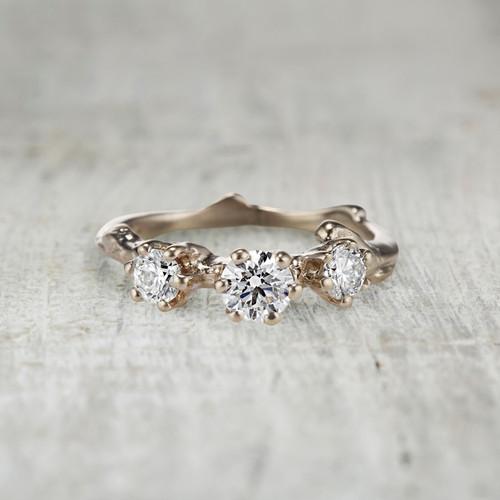 Aurora Three Stone Ring - Diamond
