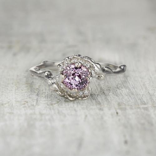 Mason Halo Ring - Pink Sapphire
