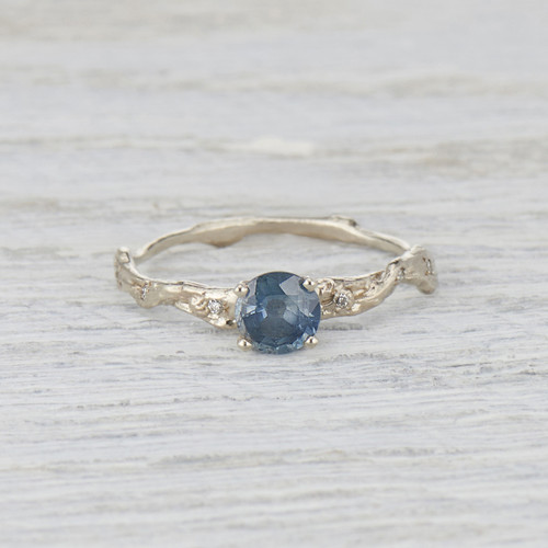 teal sapphire solitaire