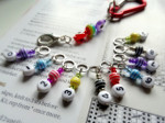 Counting Stitch Markers set of 10 - Colourful Stripes Bright