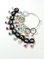NEW! Counting Stitch Markers set of 10 - Rainbow