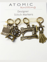 Mixed set of antiqued bronze sewing style stitch markers