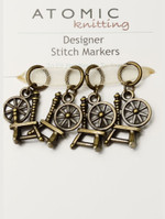 Antiqued Bronze Seahorse Stitch Markers
