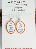 Keep Calm stitch markers