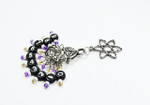 NEW! Atomic Gold & Purple Counting Stitch Markers 7mm set of 10