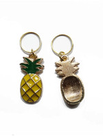 Pineapple Stitch Markers front and back