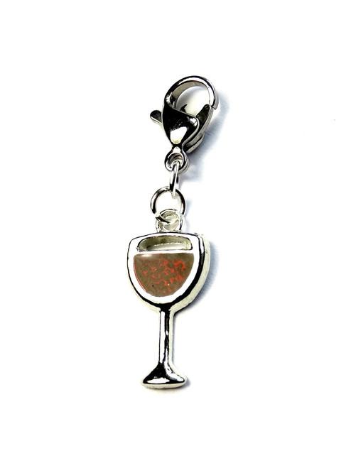 Glass of red wine! Progress Stitch Marker