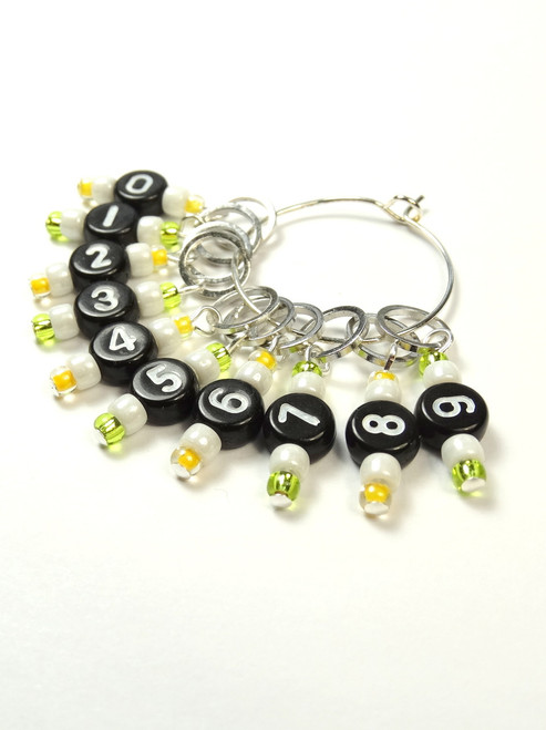 NEW! Counting Stitch Markers set of 10 - Lemons & Limes