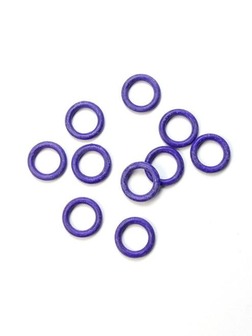 10 Purple Snag Free rubber stitch markers 6mm