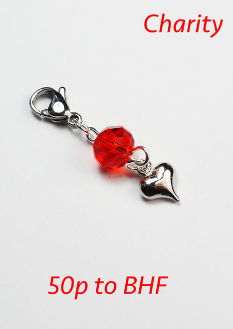 Charity Heart Progress Stitch Marker - BHF