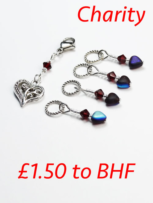 Stitch Marker set with proceeds to BHF