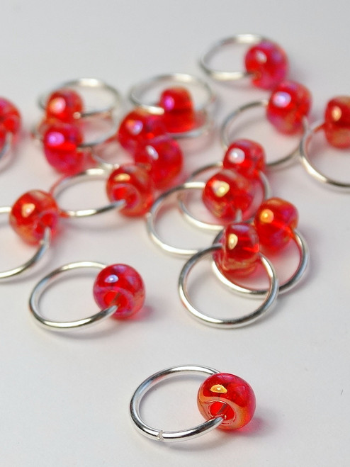 20 Pink Sunshine Jewel Rings Lace Markers 4mm