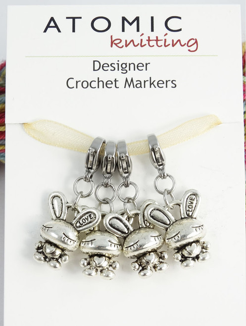 Dreamy Bunny Crochet Stitch Markers - set of 4