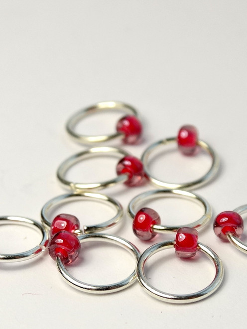 10 Berry Jewel Rings Lace Markers 5mm