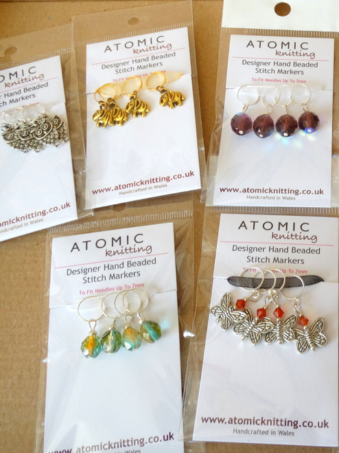 Wholesale 7mm beaded Stitch Markers  x 10