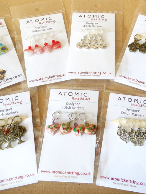 Wholesale 4mm beaded Stitch Markers  - Pack of 10
