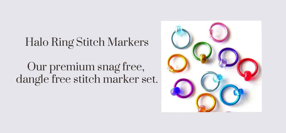 Halo ring stitch markers