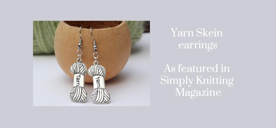 Skein yarn earrings