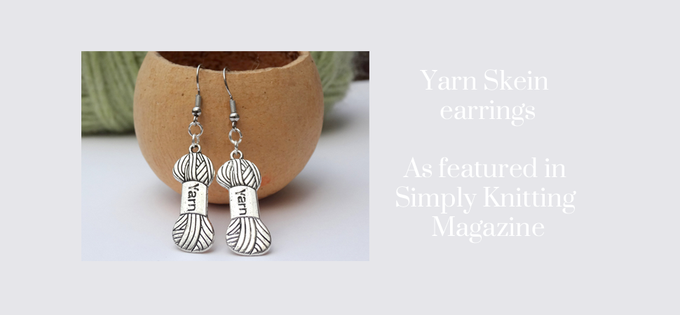 Skein yarn earrings