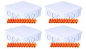 10xWaterproof IP54 Junction Boxes 100x39x100mm + 10x12way 24amp connectors