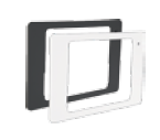 Landscape Bezel Brushed Aluminum iPad 2-4 & iPad Air 1 & 2