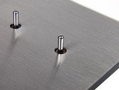 ANNA CARRE - 2 LEVERS (DOUBLE PUSH-BUTTON) KNX NO LEDS INTEGRATED TEMP & HUMIDITY SENSOR
