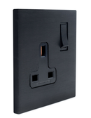 MAURO COVER PLATE - 1 SOCKET OUTLET 13A + SWITCH