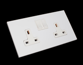 MAURO COVER PLATE - 2 SOCKET OUTLETS 13A + SWITCHES