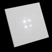 EDNA CARRE - 4 white bright LEDS - 12-24VAC