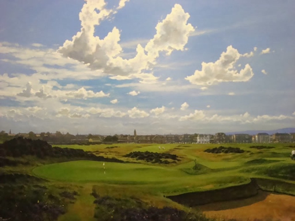 """Limited Edition 18th Hole """"Clock"""" print by Craig Campbell"""