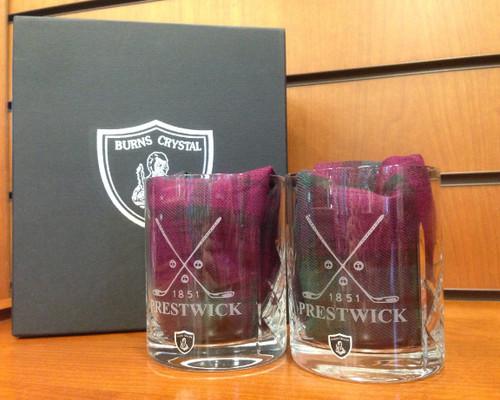 Burns Crystal Whisky Glasses (Pair)