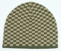Check S green mix beanie