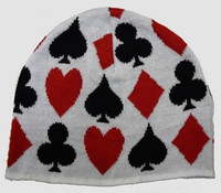 Poker white mix beanie