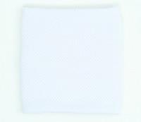 Plain white sweat band accessory