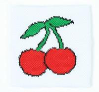 Cherry white sweat band accessory