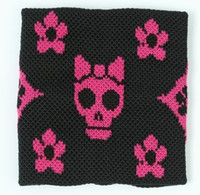 Cute Sk flower black-pink sweat band accessory