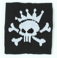 Punk Sk black sweat band accessory