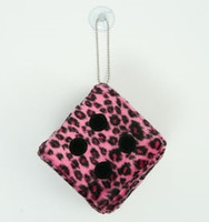 1 Dice leopard pink / black 1 dice car accessory