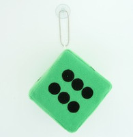 Dice green / black 1 dice car accessory
