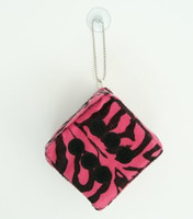 Dice zebra pink-black / black 1 dice car access