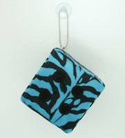 1 Dice zebra blue-black / black 1 dice car accessory