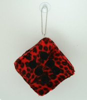 Dice leopard red / black 1 dice car accessory
