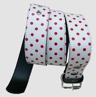 Dot white-red mix belt