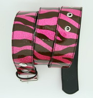 Zebra pink mix belt