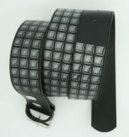 Studs print black mix belt