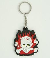 Devil bone colorful key ring