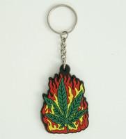 Marijuana color colorful key ring