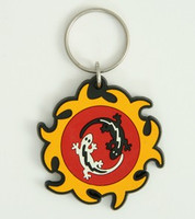 Salamanders colorful key ring