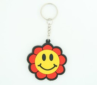 Smile flower colorful key ring